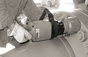 Example impact wrench in use